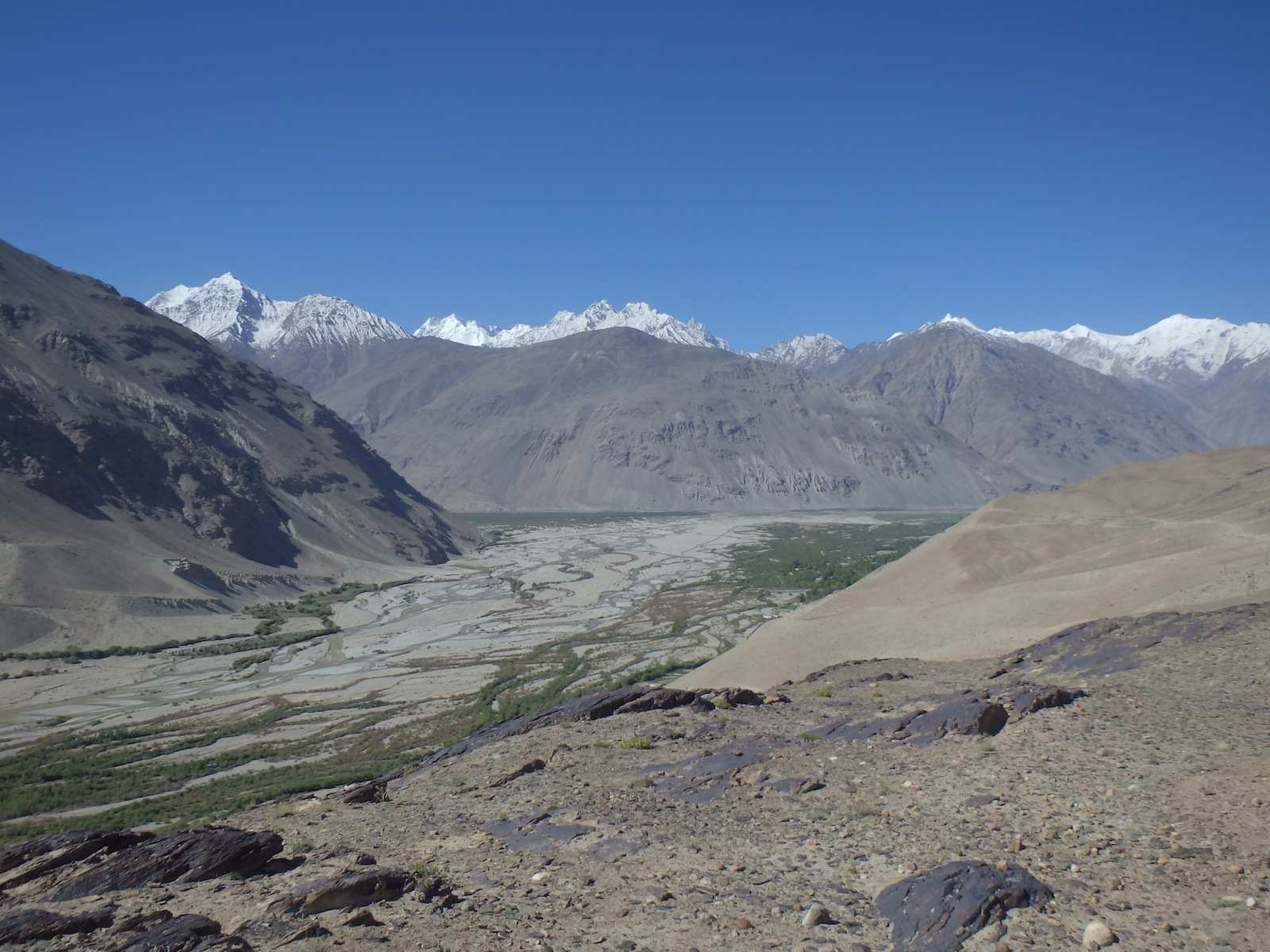 Meeting point of the Pamir and Wakhan rivers (Tajikistan - Wakhan)