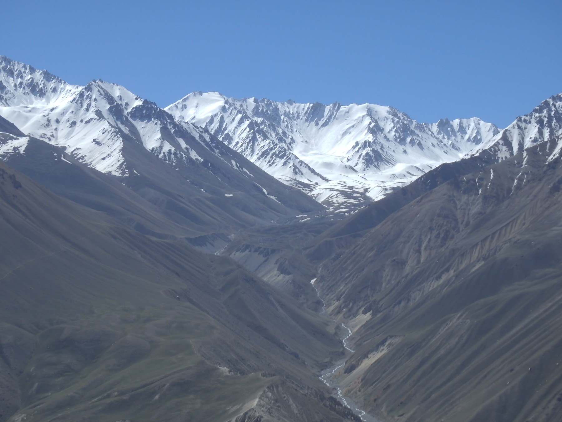 View of the Big Pamir mountain range from Tajikistan (Tajikistan - Wakhan)