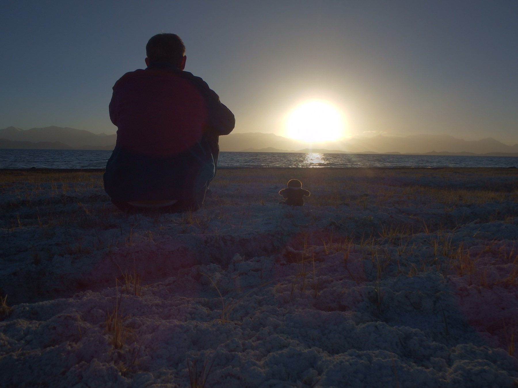 Watching the sunset with Kiwi Ted (Tajikistan - Karakol)
