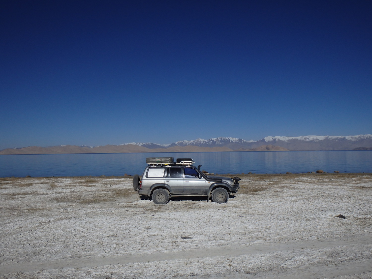 My campsite beside Karakol Lake (Tajikistan)
