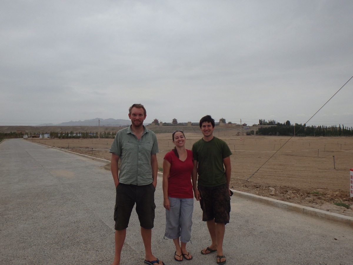 V, K and I at the Castle in Jaiyuguan (China)
