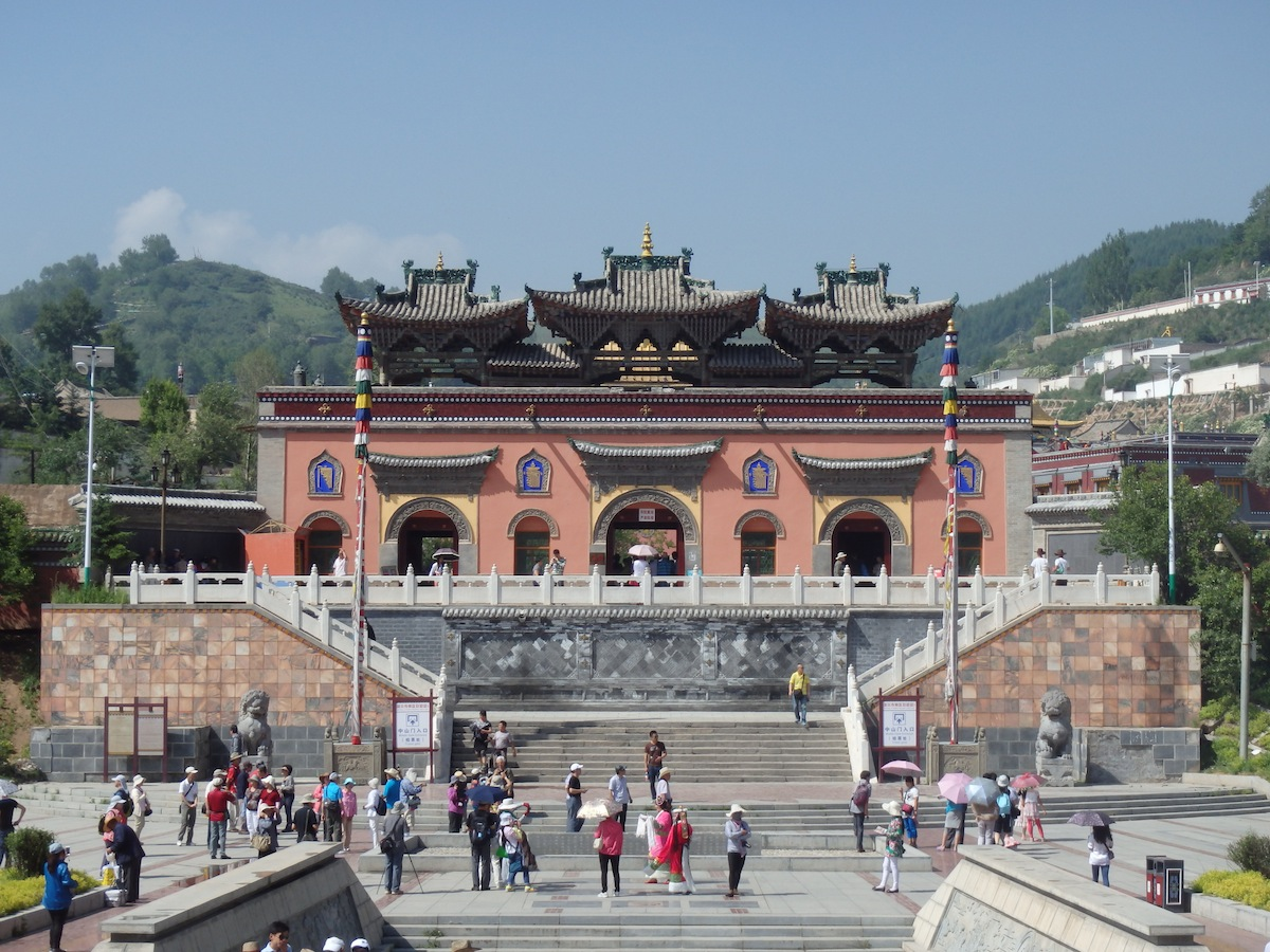 Te Shi monastery in Huangzhong (China)