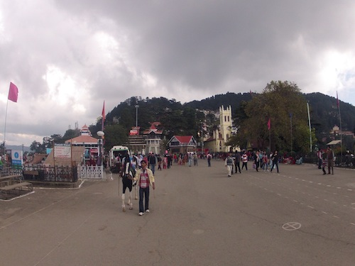 The Main Square in Shimla (India)