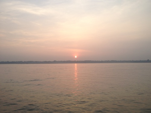 Sunrise on the Ganges (Varanasi, India)
