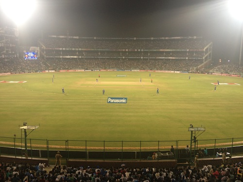 Action at the T20 Champions League Final (Delhi, India)