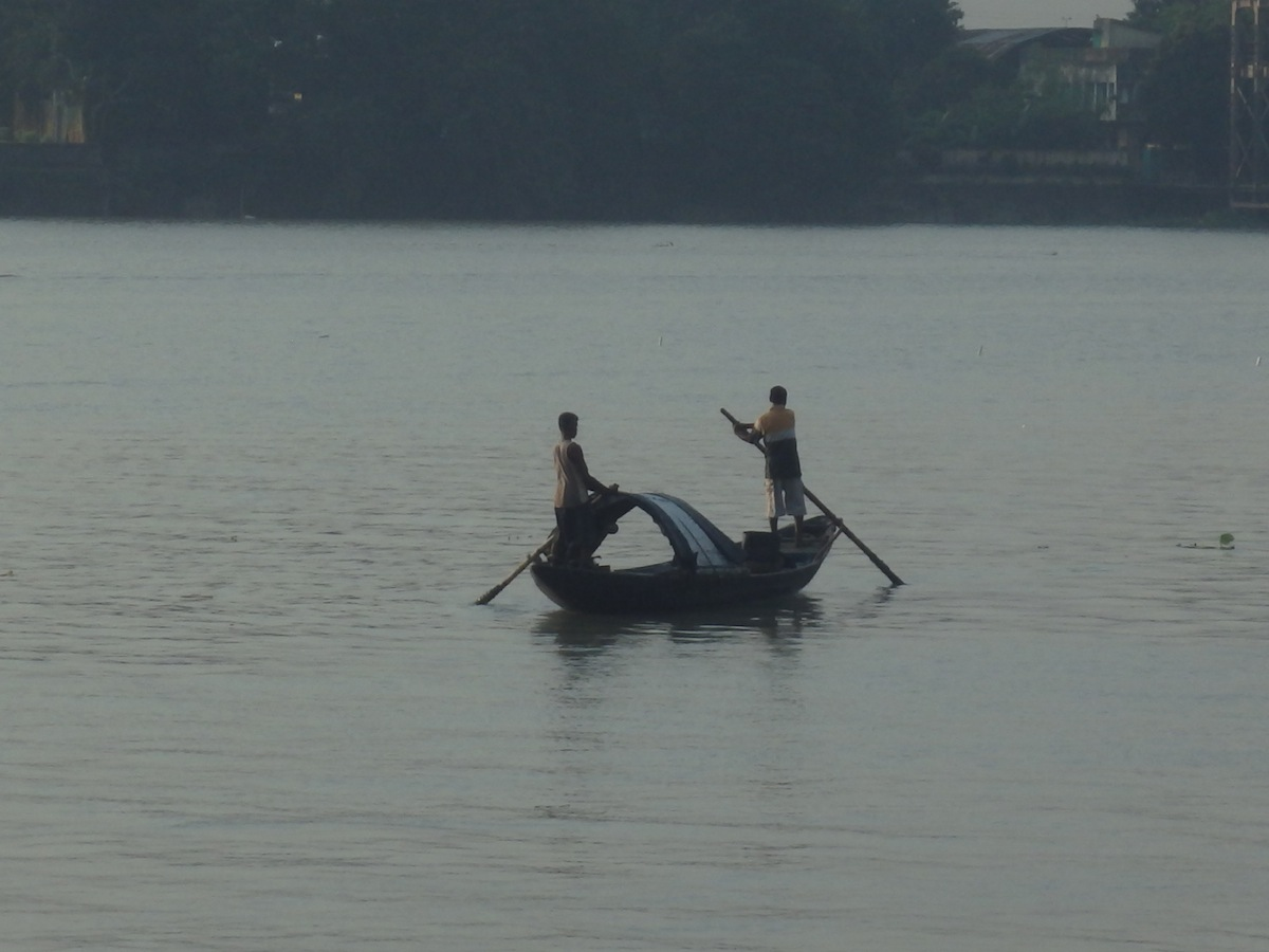 Boat on the River Hooghly (Kolkata, India)