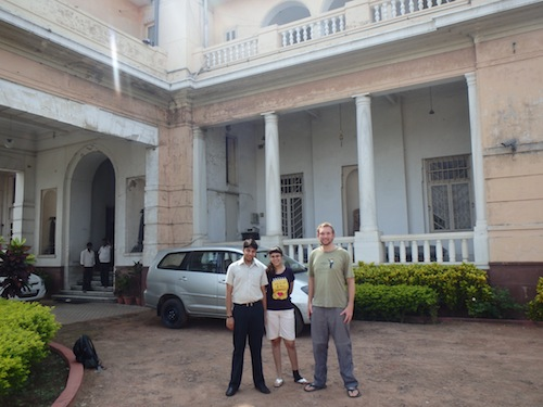 Udrrek, Prerna and  me outside Qila House (Patna, India)