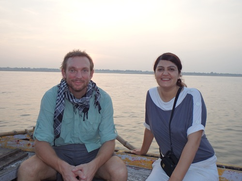 Zohreh and me (Varanasi, India)