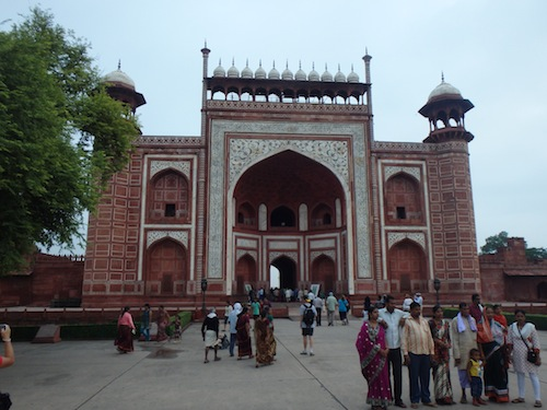 The front door to the Taj Mahal (Agra, India)