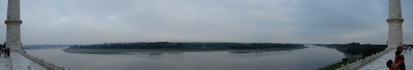 Rear river view from Taj Mahal (Agra, India)