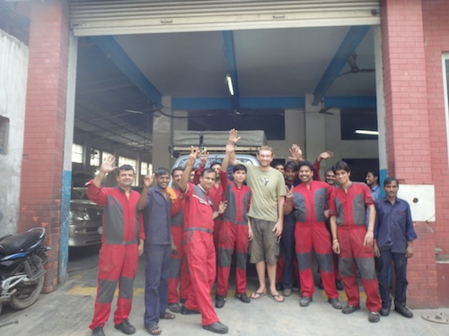 The Team at Lakozy Motors (Delhi, India)