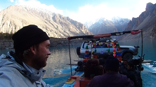 The return journey across Attabad Lake (Attabad Lake, Pakistan)