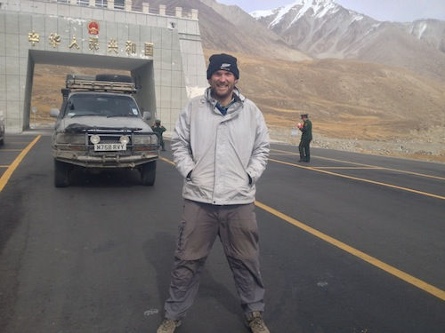 Freezing but happy at the Khunjerab Pass (KKH, Pakistan)
