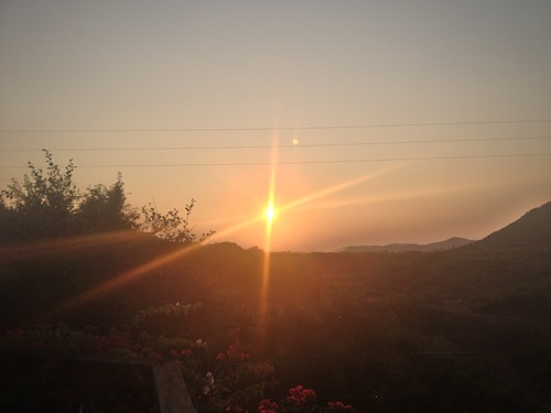 Sunset at Tariq's place (Islamabad, Pakistan)
