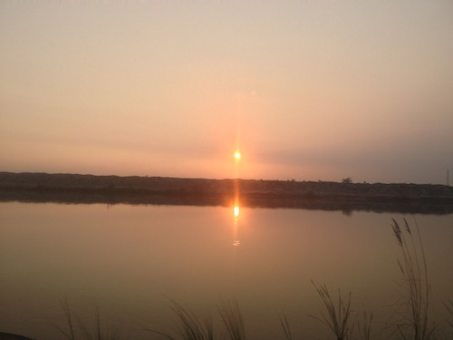 Sunset over the canal (Near Hafizabad, Pakistan)