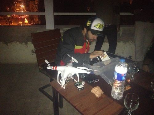 Moin and his quad-copter  (Lahore, Pakistan)