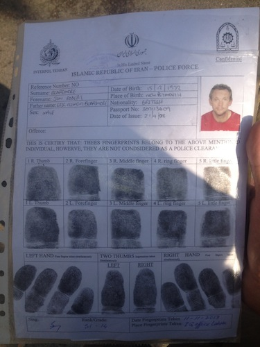 Fingerprinted and Processed (Lahore, Palistan)