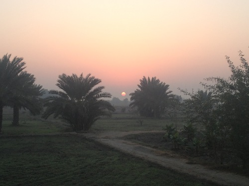 Early morning sunrise near Sukkur (Pakistan)
