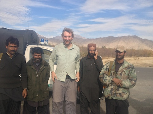 My security detail heading into Quetta (Quetta, Pakistan)