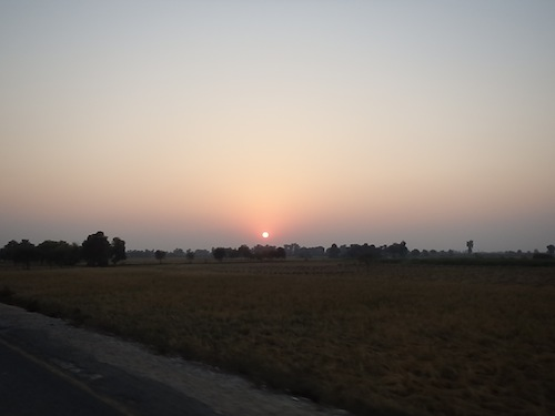 Sunset near Pano Aqil (Pakistan)