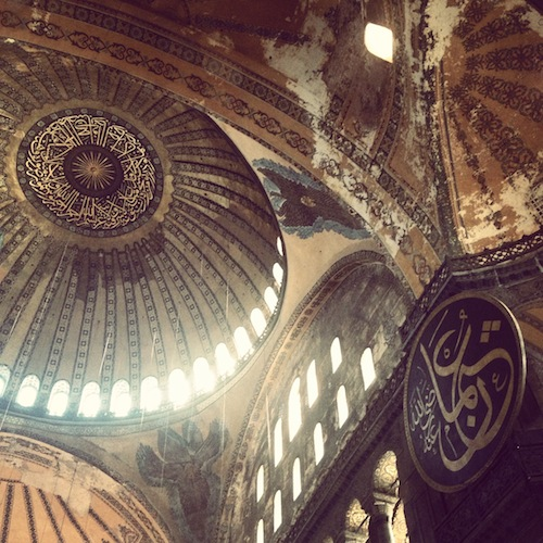 Inside the Ayia Sophia (Istanbul, Turkey)