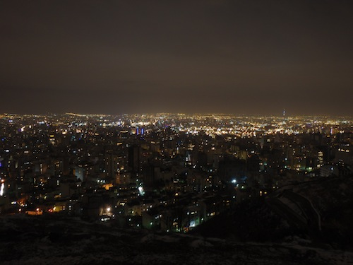 Tehran views at night (Tehran, Iran)