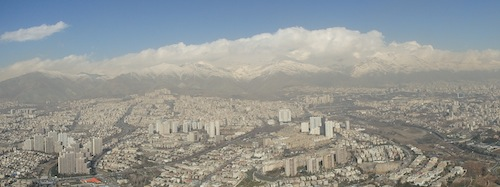 Alborz Moutain range in north Tehran (Iran)