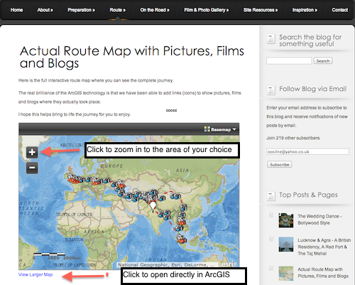 The Interactive Route Map is now live!!
